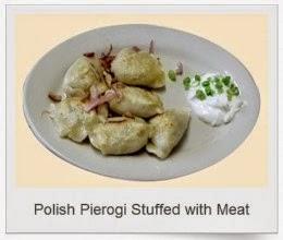 polish pierogi stuffed with meat