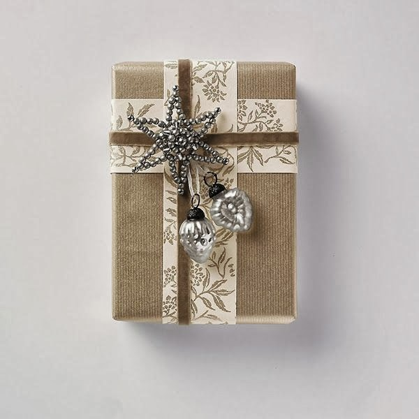The white company baubles for gift wrap