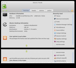 Novedades de Ubuntu Tweak, novedades