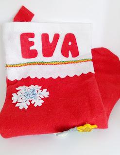 Manualidades para regalar, calcetín de navidad