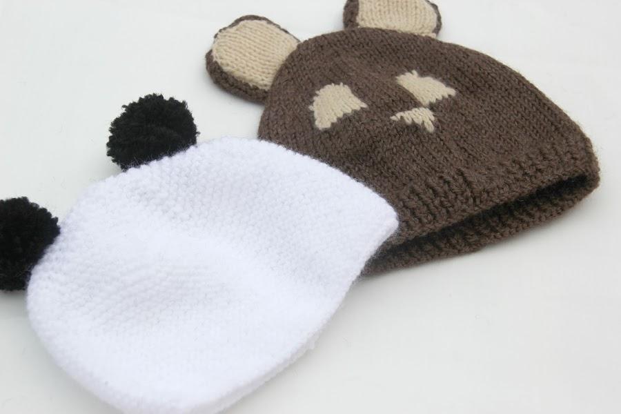 Cómo hacer gorro de lana con orejas para bebé (panda)
