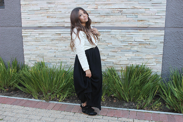 lucky loves, sneaker wedges, ombre hair, maxi skirt