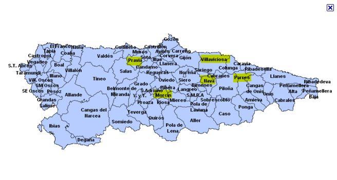 carte des jumelages Bretagne Asturies