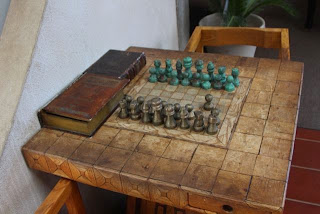 a game of chess has started
