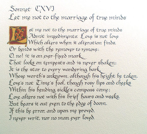 essay on sonnet 116 by william shakespeare Read this essay on sonnet 116 sonnet 75 by edmund spenser as well as sonnet 18 by william shakespeare eternal lines (l9) employs the theme of immortality.