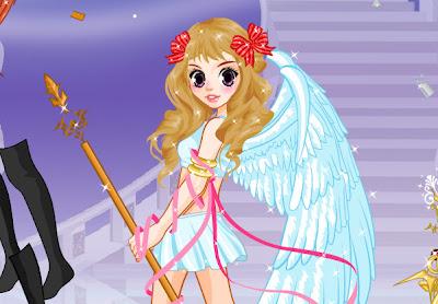 Juego para vestir al ángel del amor