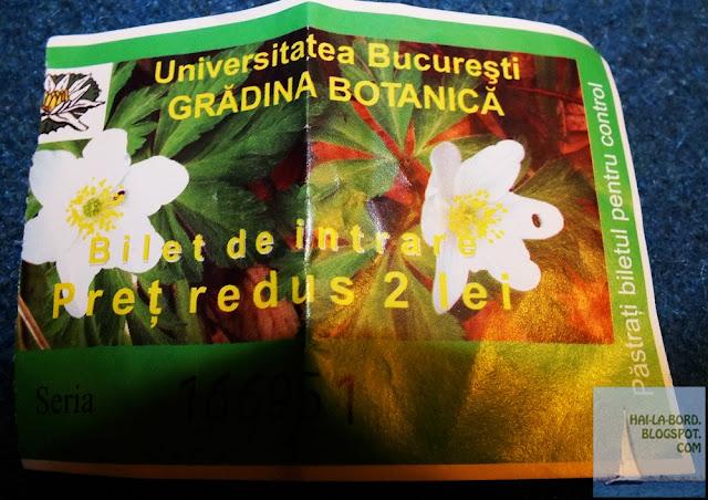 bilet intrare gradina botanica bucuresti
