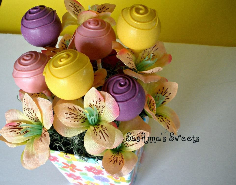 SusAnna\'s Sweets: Mother\'s Day Flower Cake Pops