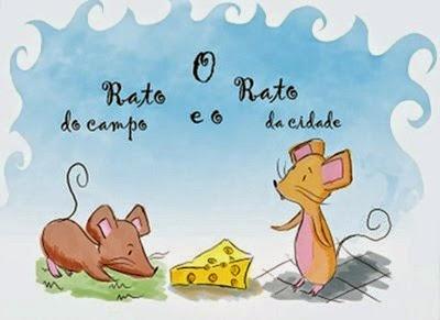texto O rato do campo e o rato da cidade