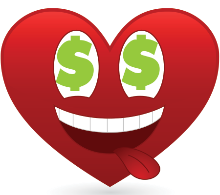 Money love emoticon