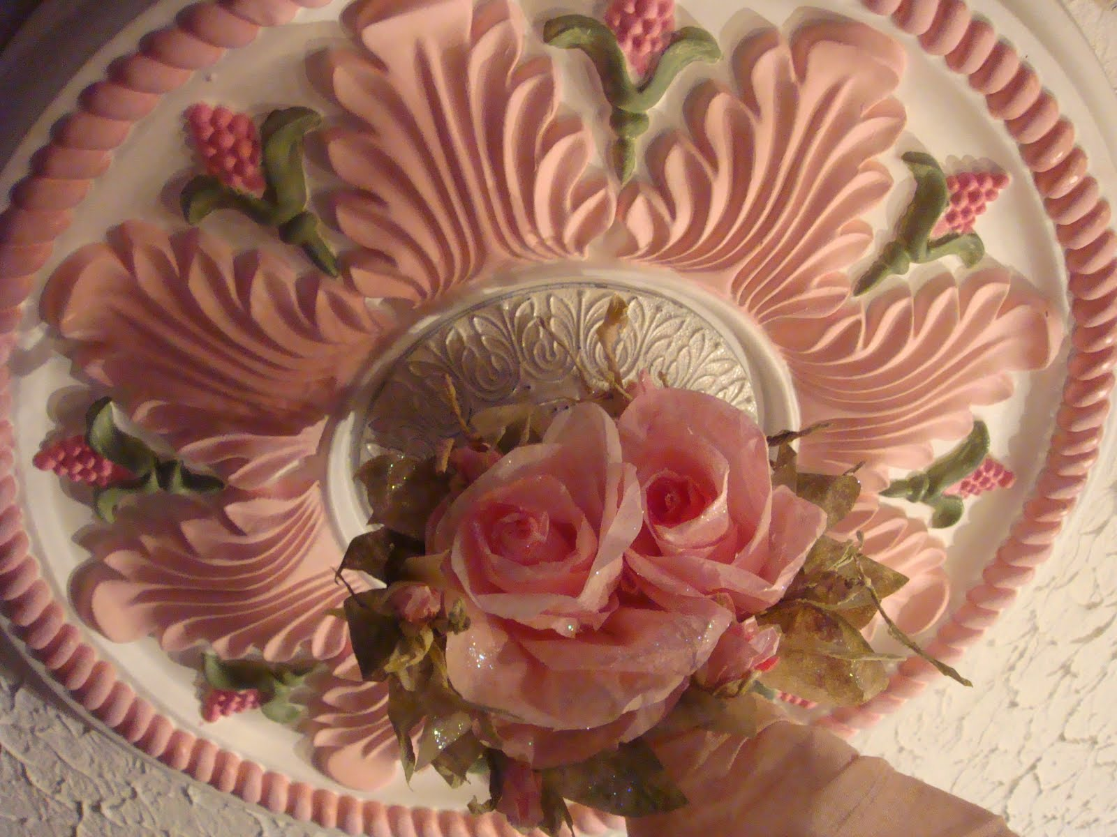 A Pocket Full Of Roses Pretty Pink Ceiling Medallion