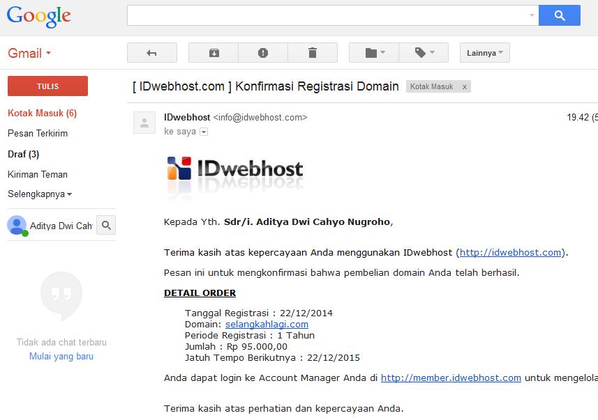 Cara Membeli Sewa Domain Blog di Idwebhost