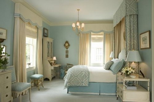 blue bedroom window treatment canopy benches ideas