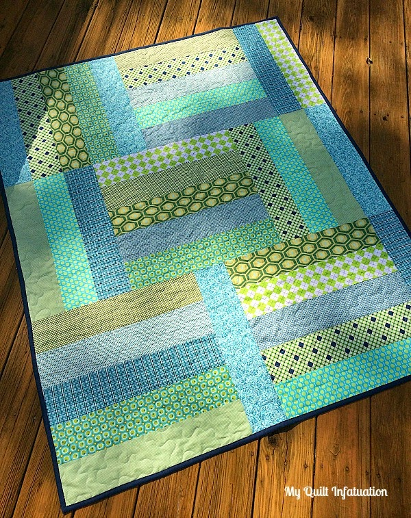 Quilt Patterns Using Strips Of Fabric : Fort Worth Fabric Studio: Oh Sew Baby: Strip Tango Baby Quilt Tutorial