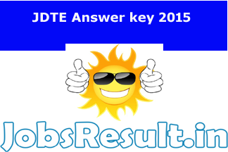 JDTE Answer key 2015