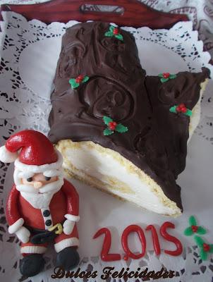 Tronco de Navidad con crema de queso