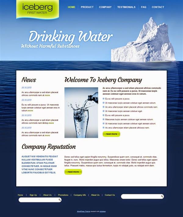 Iceberg - Free Wordpress Theme