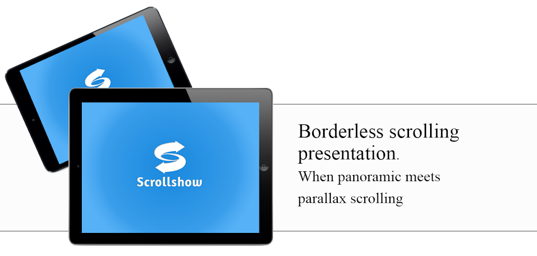 Scrolling parallax presentations