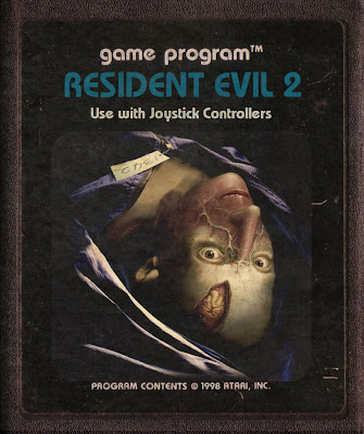 RE2 Atari 2600 Classic game old art Resident Evil 2 Zombies Image Retro