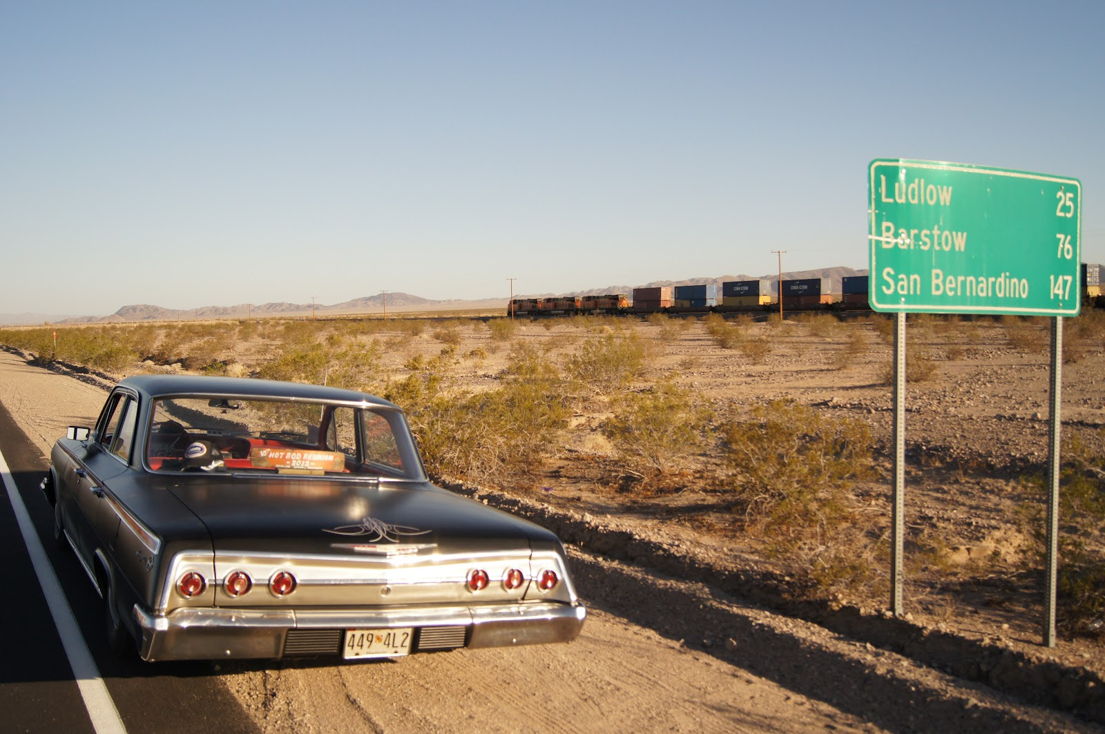 The Road Sign Thats On Cover Of Our Atlas Taken Historic Route 66 In Mojave Desert