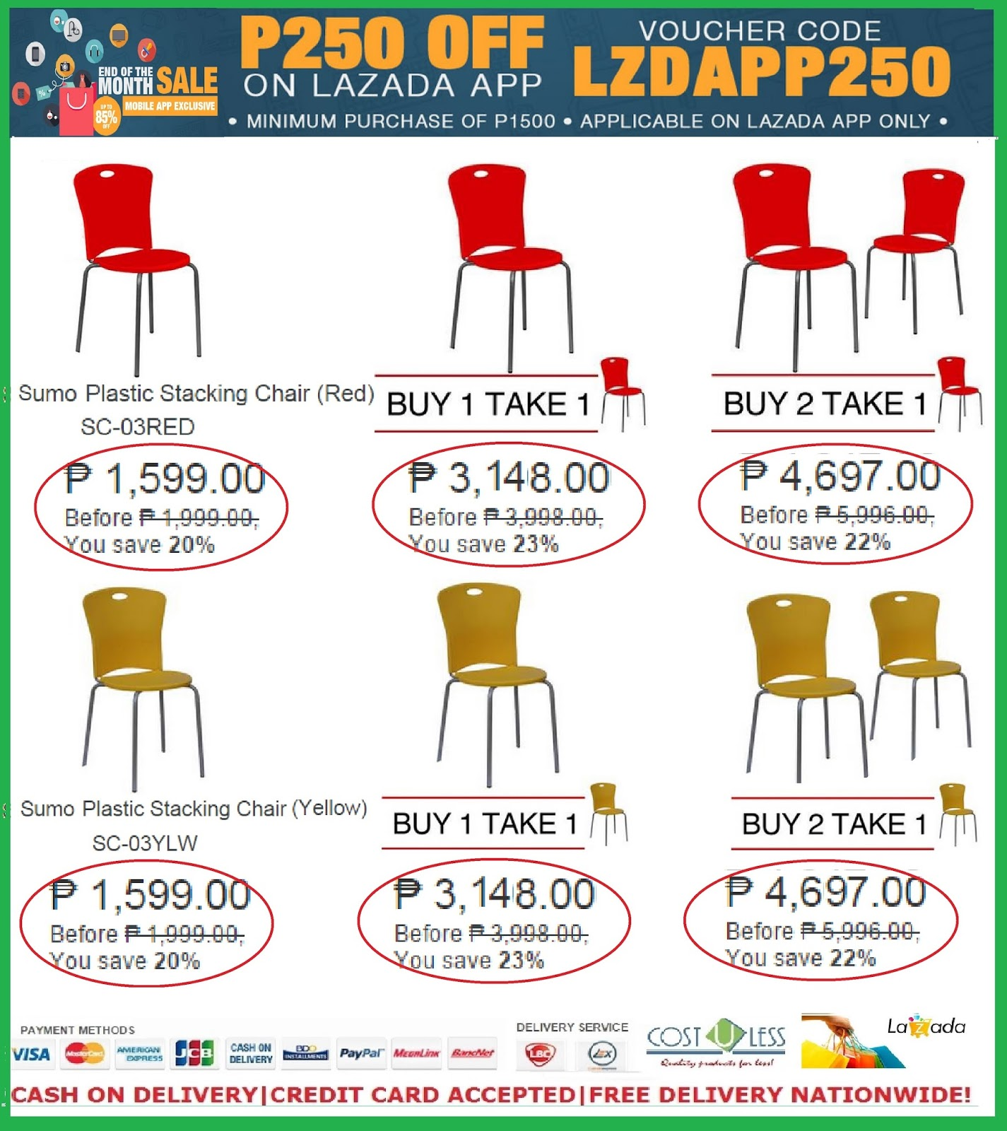 Home U0026 Restaurant Furniture   Stacking Chairs Sale At Lazada