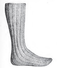 Men's Long Wool Socks Vintage Knitting Pattern $1.95