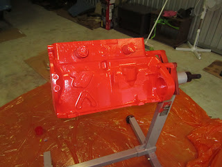 Volvo B20 engine painted