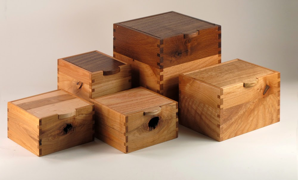 5 Recycled Wood Keepsake Boxes