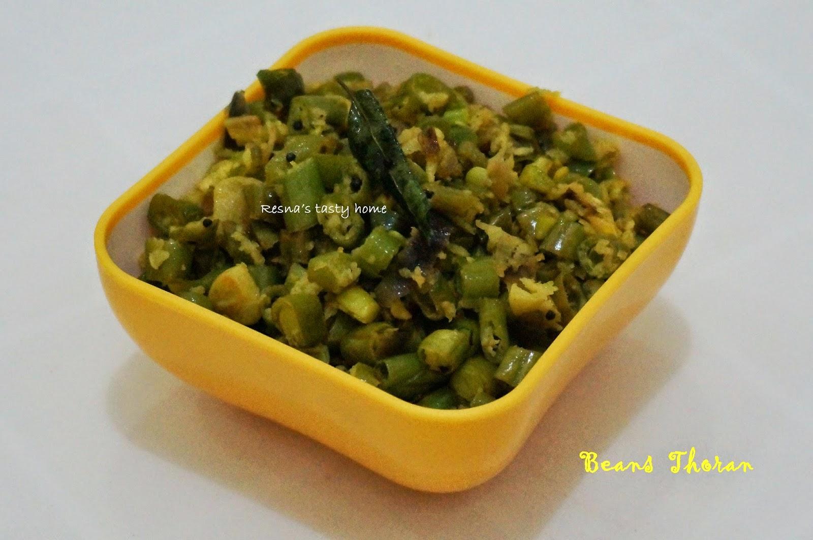 beans thoran / beans upperi / beans stir fry