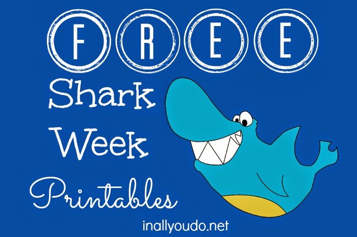 This is an image of Peaceful Free Shark Printables