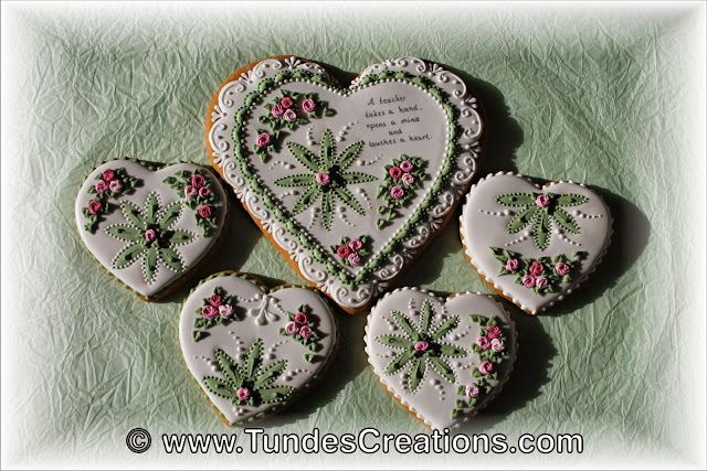 Gingerbread heart teacher gift keepsake cookie by Tunde Dugantsi