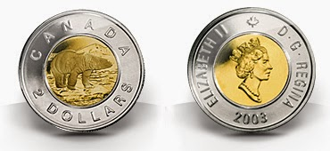 front and back of 2003 toonie