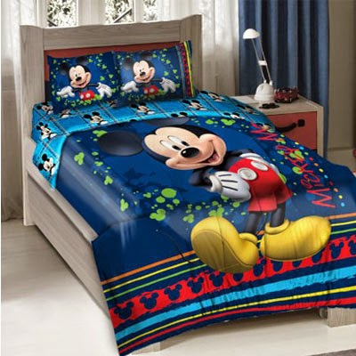 Disney Mickey Mouse Fun Bedding Comforter Set with Fitted Sheet Twin Size