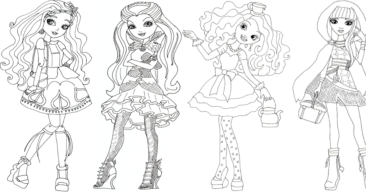 free printable ever after high coloring pages cedar