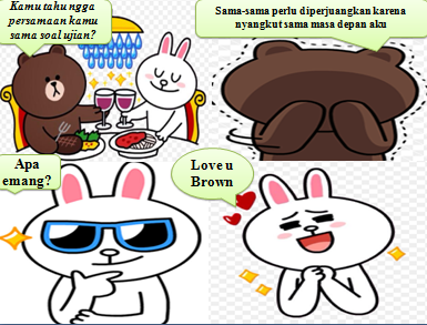 Gambar Cony and Brown Sticker Line