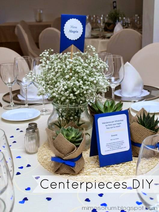Centros de Mesa con Plantas Naturales. Centerpieces Diy