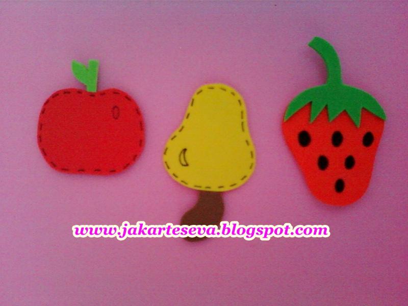 Apliques Frutas em E.V.A, Imãs de Geladeira