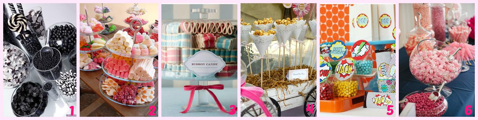 Mesa Dulce Candy Bar detalles exposición