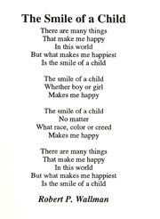 THE SMILE OF A CHILD POEM