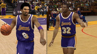 NBA 2K13 Lakers Retro Purple Jersey Mod