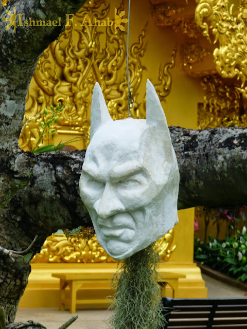 Batman's head in Wat Rong Khun, Chiang Rai, North Thailand
