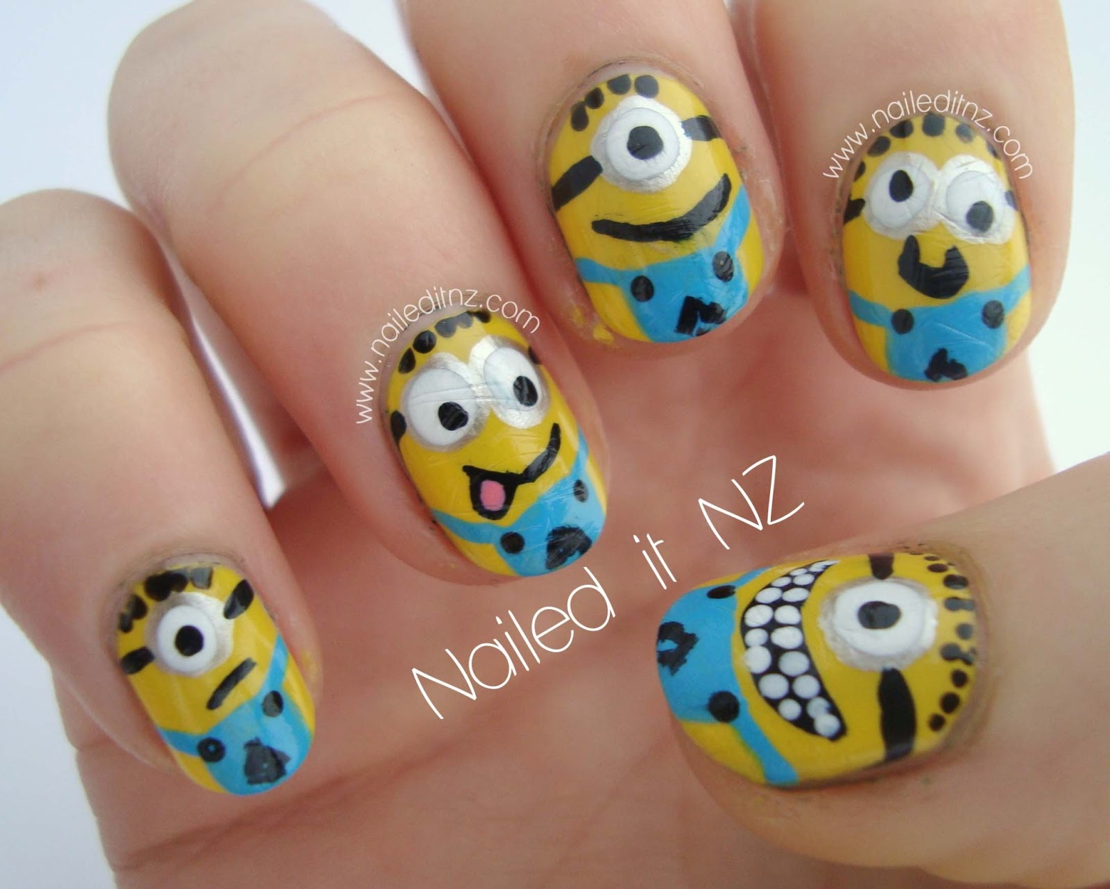 Despicable Me nail art & tutorial!