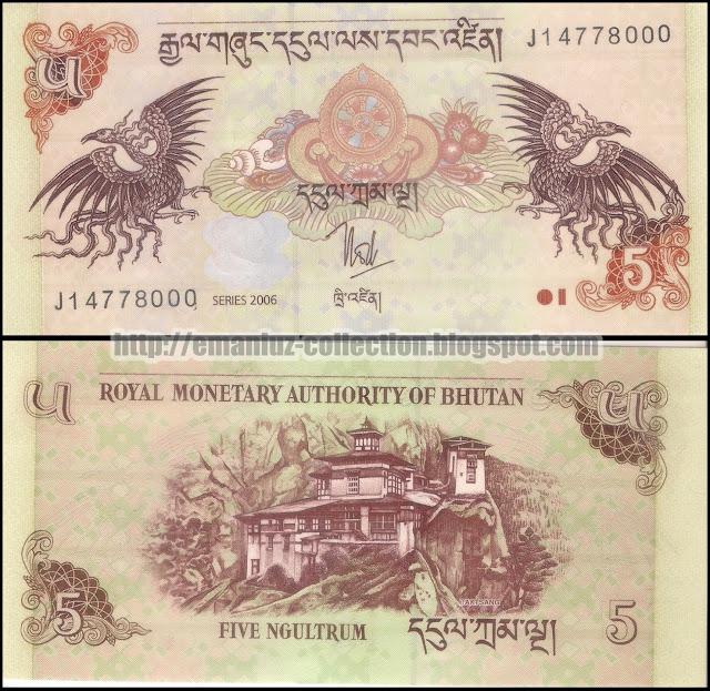 Banknotes | Bhutan | 5 Ngultrum