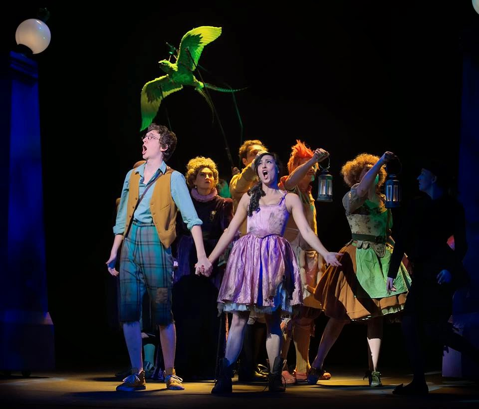 Filipa van Eck and Adam Temple-Smith in British Youth Opera's The Little Green Swallow - photo Bill Knight