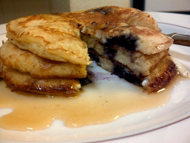 Blueberry-Cream Cheese Pancakes | Not a Chef, but I can Cook!