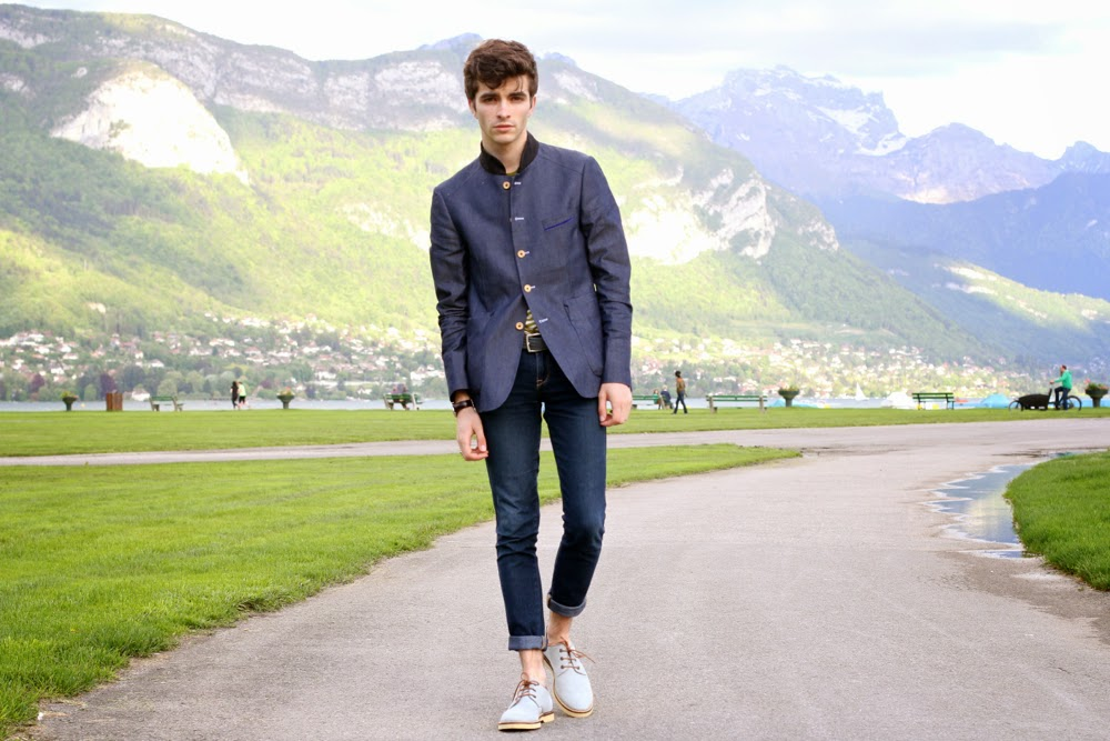 BLOG-MODE-HOMME_PREPPY-Dandy-Paris-Annecy_GUess-watches-cavalier-bleu-veste-col-mao-lacoste-chaussures2