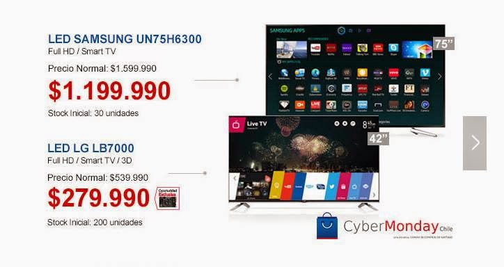 televisores en oferta de ripley chicle 11-2014