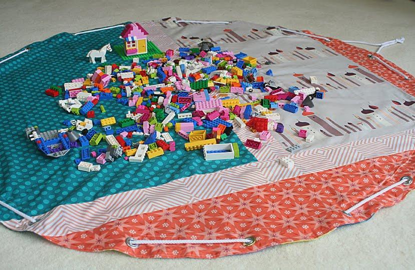 lego storage bag playmat freshly pieced. Black Bedroom Furniture Sets. Home Design Ideas