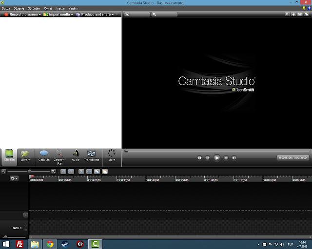 Camtasia Studio 8 Full Tek Link Türkçe İndir