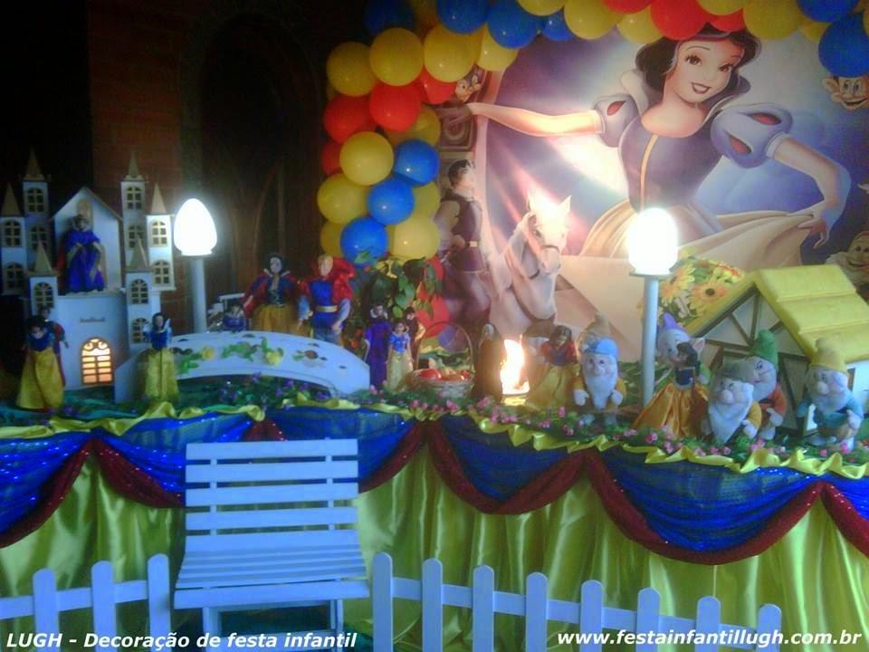 decoracao festa infantil tema branca de neve:de Neve – Tema para mesa decorada de festa de aniversário infantil de